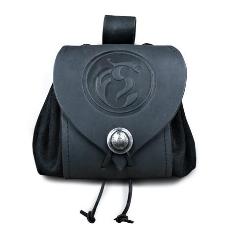 Emblem by Feuerschwanz - Leather belt pouch - shop now at Feuerschwanz store